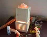 Zirbenholz-Lampe mit Duft und Lichteffekt