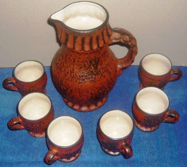 Keramik Set Krug m 6