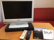Fernseher Philips und DVD Player