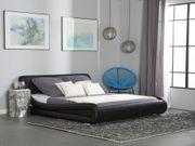 Wasserbett Kunstleder schwarz 180 x
