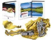 Silberbarren in Österreichform mit Zertifikaten