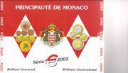 Monaco Kursmünzsatz 2002 brilliant uncirculiert
