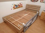 Kinderbett und Lattenrost mit Matratze