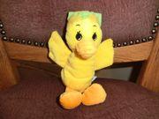 Babyspielzeug Ente aus Plüsch Raschelkugeln