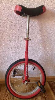 Einrad rot 16 Zoll Reifen