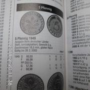 D-Mark 5 Pfennig 1949-1980 komplette