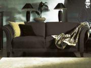 Werther Classic schwarzes Leder-Sofa Prestige