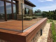 Profiles for glass balustrade and