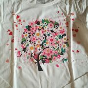 Longsleev Shirt L weiß Baum