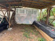 Abstellplatz überdacht Wohnmobil Wohnwagen
