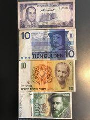 26 Banknoten aus aller Welt