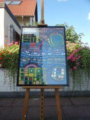 Friedensreich Hundertwasser Kunstdruck 805 gerahmt