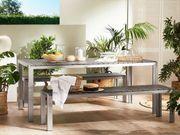 Gartenmöbel Set Kunstholz grau 8-Sitzer