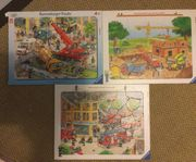 3 Ravensburger Puzzle komplett Unfall