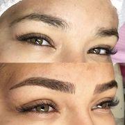 Microblading permanent make up Augenbrauen