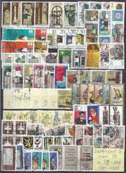 DDR Briefmarken Lot 5 gestempelt