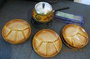 Fondue Set mit 6 Tellern