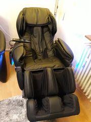 Luxus-Ganzkörper-Massagesessel schwarz neu