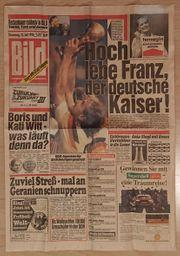 Weltmeisterschaft 1990 - BILD-Titelseite mit Mannschaftsfoto