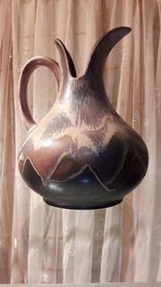 Keramik Vase Henkelvase Henkelkrug braune