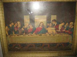 Kunst, Gemälde, Plastik - Gemälde Bild Abendmahl