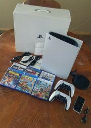 Playstation 5 Konsolen-Disc-Edition kaum benutzt