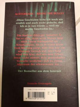 Comics, Science fiction, Fantasy, Abenteuer, Krimis, Western - Stephen King Riding the Bullet -