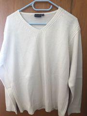 Weißer Strick-Pullover Gr XL zeitlos