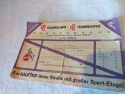 Biete alte Fußball Eintrittskarte Ticket