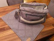 BooPoo Wickeltasche Tasche grau blau