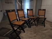 Stühle klappbar geflochtene Sitzfläche