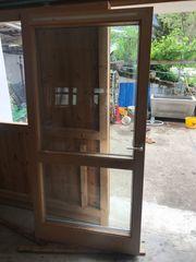 Balkontüre Holz Alu weiß 2
