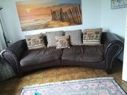 Familien-Couch in Dunkelbraun