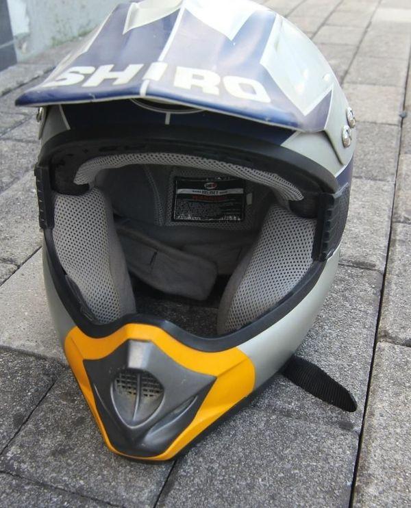 Motocrosshelm Redbull Design Shiro Gr