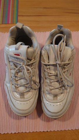 Sportsneaker weiß Lack Gr. 37
