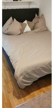 Box-Spring-Bett Farbe dunkelgrau