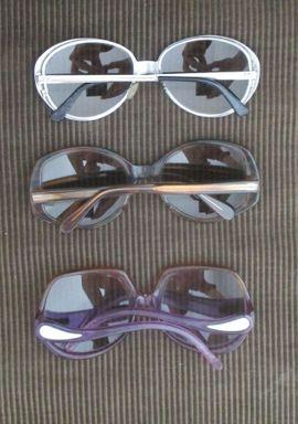 Schmuck, Brillen, Edelmetalle - 3 Original Vintage Sonnenbrillen aus
