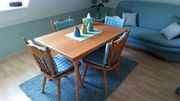Esstisch mit 4 Stühlen Massiv