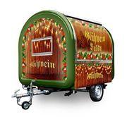 Mobiler Glühweinsstand Glühwein Verkaufsanhänger Weihnachtsmarktstand