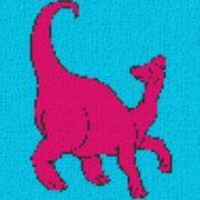 Vorlage für Ministeck Dino2 40x40cm