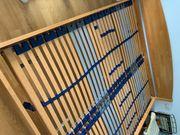 Echtholz-Bett 200 x 200cm sehr