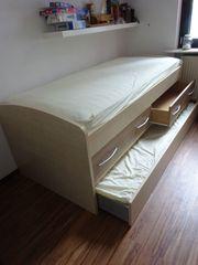Kinder Jugendbett mit ausziehbarem Gästebett