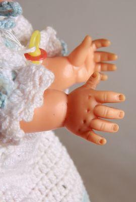Puppen - Kinderpuppe-Babypuppe-Schlafaugen 50 60 er Jahre-26
