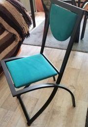 Drei Design Stühle Garten Terasse
