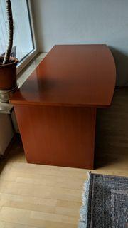 Büroschreibtisch Echtholz kirsche 180x88Cm