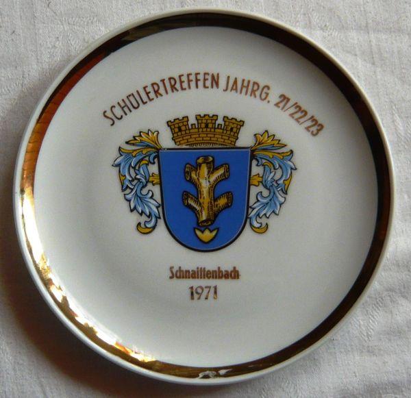Porzellan-Wandteller Eschenbach Porzellan Schülertreffen 1971