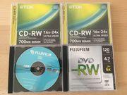 diverse DVD CD als Speichermedium