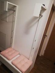 Garderobe mit Sitzbank weiss Hochglanz