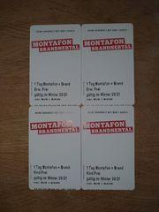 4 Stk Skikarten Tageskarten Montafon