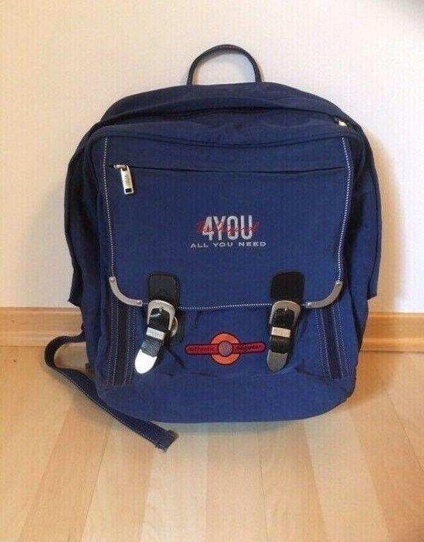 4 you Schulrucksack blau Schultasche